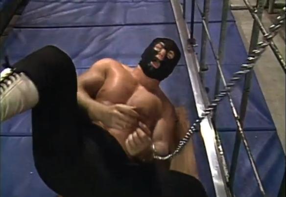 masked gimp dude